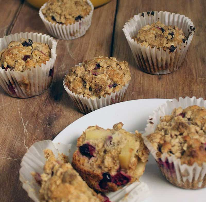 Apple + Cranberry Muffins