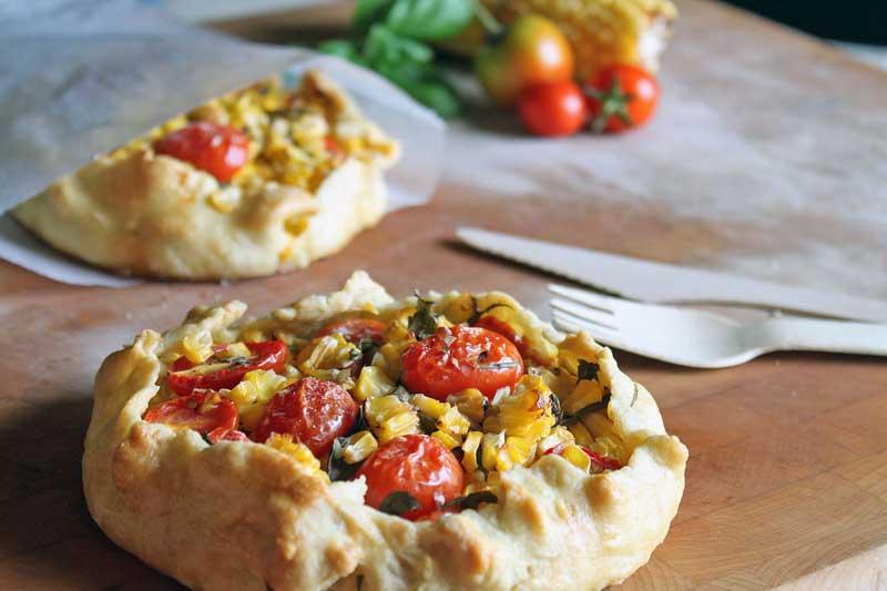 Tomato + Corn Galette