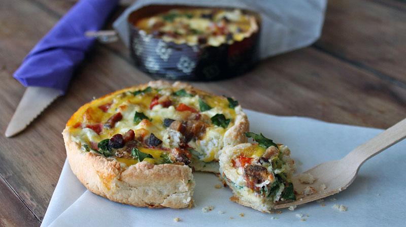 Tomato + Spinach Quiche