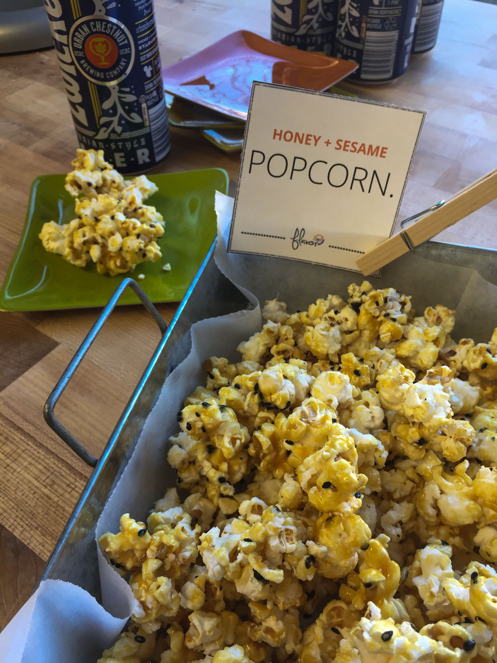 Honey + Sesame Popcorn