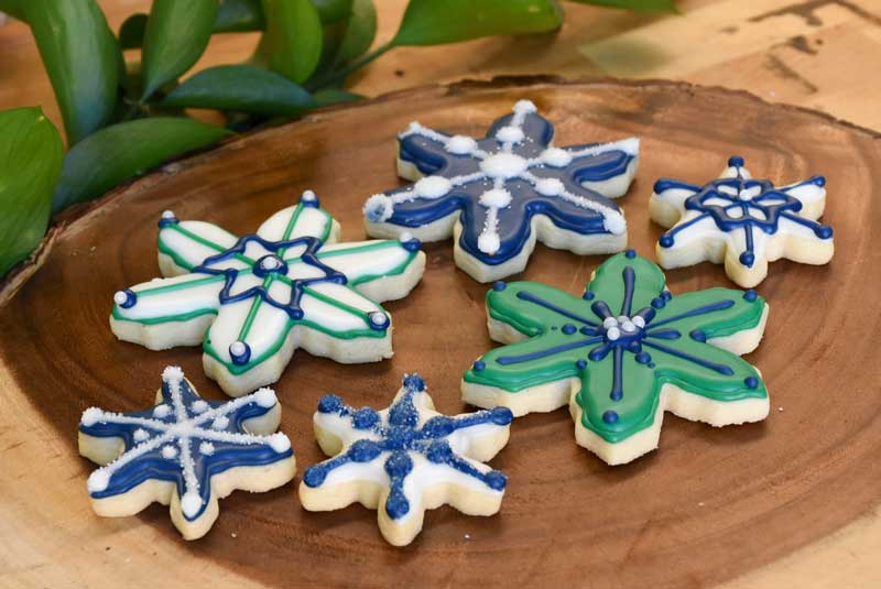 SNOWFLAKE SUGAR CUT-OUTS