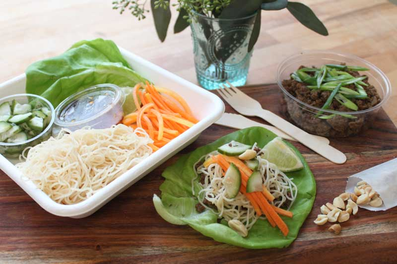THAI LETTUCE WRAPS.