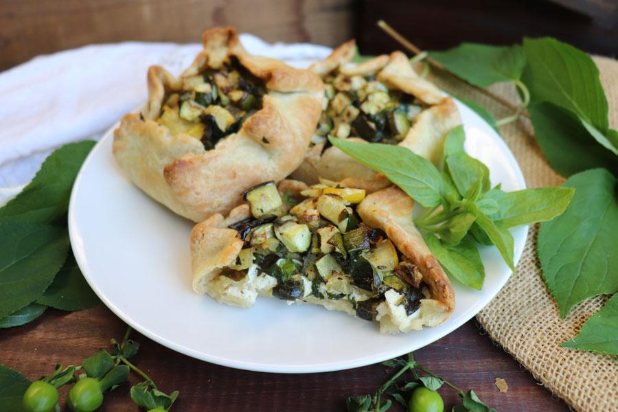 Grilled Zucchini + Basil Galette