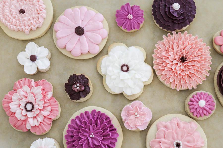 Spring Flower Sugar Cut-outs