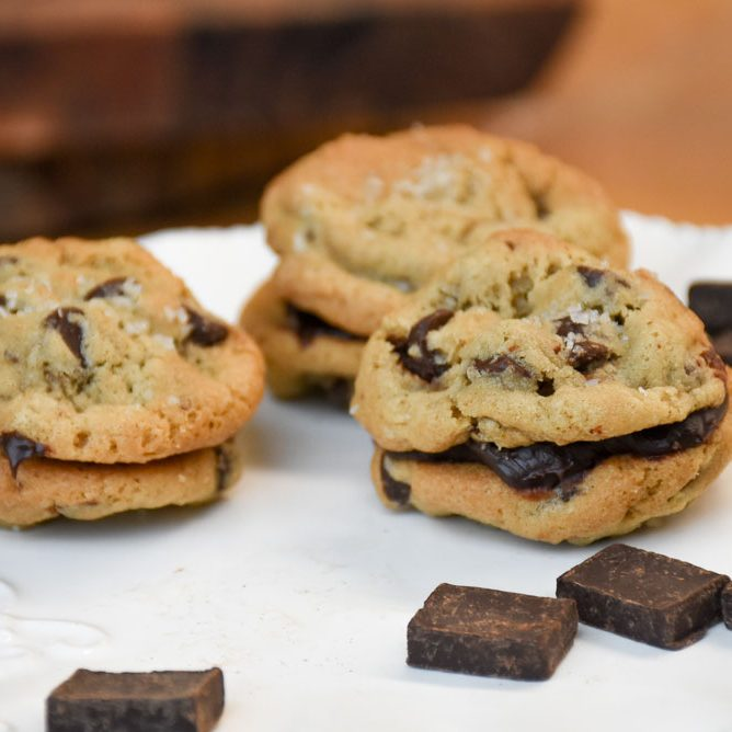 Salted Chocolate Chip Sandwich Cookie.